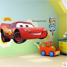 Lightning McQueen Racing Cars Wall Sticker Decal Kids Boy Room Decor Vinyl Mural
