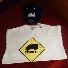 Young Mens large Trukfit short sleeve shirt & snapback hat