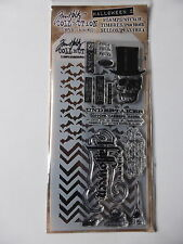 "* Nuevo * Tim Holtz Sello & Stencil Set ""Halloween 2'"