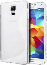 Clear Soft Ultra-thin Silicone Rubber Gel Case Cover Films For Samsung Galaxy S5