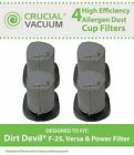 4 Dirt Devil F25 Stick Vacuum Filters F-25 Versa Power 2SV1102000 3SV0980000