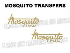 Mosquito Tank Transfers Decals Motorcycle Moto Garelli Gold