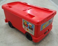 LEGO Duplo Red Firetruck Storage Bin on wheels