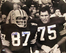 Packers FORREST GREGG & WILLIE DAVIS Signed 16x20 Photo AUTO - SB I&II Champs