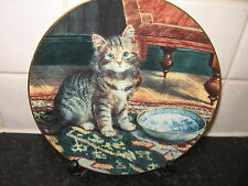 CAT PLATE  -   MY BOWL IS EMPTY  - VICTORIAN CAT CAPERS  -BRADFORD EXCHANGE