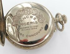 ".RARE / ANTIQUE MOERIS ""TRAMWAY, O. DUSONCHET, CAIRO"" EGYPT POCKET WATCH WORKING"