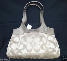 New With Tag Coach Lexi Khaki Signature Large Tote Bag F18828 $398