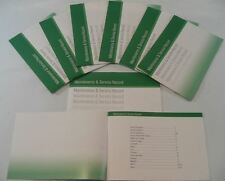 Replacement Generic Car Service History Book Suitable For BMW  Green
