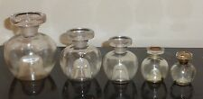 SET OF 5 VINTAGE REVILLON EMPTY BOTTLES CARNET DE BAL & DETCHEMA DIFFERENT SIZES