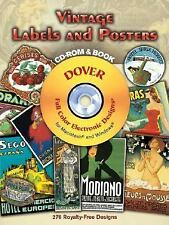 Vintage Labels and Posters CD-ROM and Book Dover Electronic Clip Art