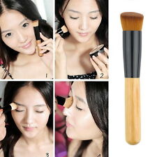 Perfect Soft Fiber Angled Flat Top Foundation Powder Brush Cosmetic Tool HD SL