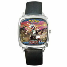 Huge Rock solid Defense Pokemon Aggron leather watch