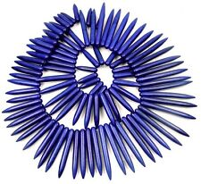 """20-48mm Cobalt Blue Turquoise Graduated Spike Beads 18"""""""