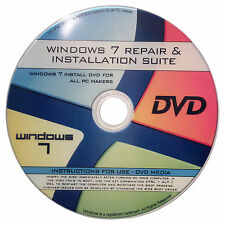 REINSTALL/REPAIR for WINDOWS 7 HOME/PROFESSIONAL/ULTIMATE/ENTERPRISE 32BIT/64BIT