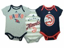 Atlanta Hawks NBA Adidas 3 Point Creeper Bodysuit Set Size Infants 12M