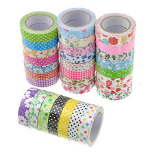 New Printing Fabric Self Adhesive Washi Decorative Sticky Tape Sticker 15mm