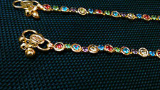 New Fancy Design anklet (payal) multicolor in golden anklet
