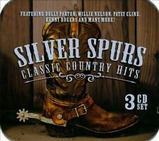 """SILVER SPURS, CLASSIC COUNTRY HITS, """"VARIOUS ARTISTS"""" 3 CD SET."""