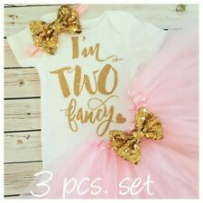 2nd birthday outfit,pink and gold 2 Onesie,pink glitter Onesie, Handmade,two