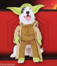 "Disney Star Wars Yoda Pet Dog Costume Size Small 14"" Chest 11"" Neck to Tail"