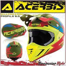 ACERBIS CASCO PROFILE 3.0 SNAPDRAGON MOTOCROSS OFFROAD VERDE/GIALLO OPACO TG. M
