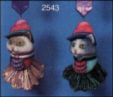 "NEW CERAMIC MOLD-SCIOTO- S2543  2 Cat Head ORNAMENTS 3-1/2""  TALL"
