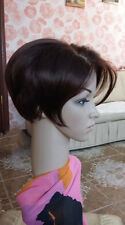 Fashion Wig Newest Heat Resistant Synthetic Natural Short Dark Brown Wig + Gift