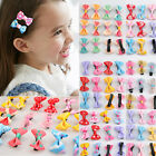 12Pcs Kids Children Baby Girls Lovely Bowknot Hairpin Hair Bow Clips Headband