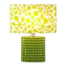 "Lime Green Psychedelic Ceramic Contemporary Table Lamp with Shade 19"" UM40057"