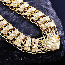 Mens womens Gold filled Heart love big long vintage necklace lot Fashion jewelry