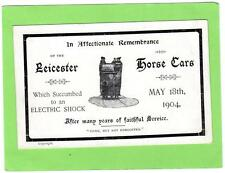 Leicester Horse Car Tram Remembrance 1904 unused old pc