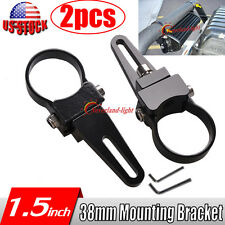 "2x 1.5"" 38mm Mount Bracket Tube Clamps For Led Work Light Bar Rigid Bullbar Tube"