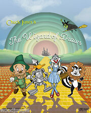 THE WIZARD OF OZ MOVIE POSTER SIGNED  ARTIST CHILD'S ROOM BUGS BUNNY DAFFY DUCK