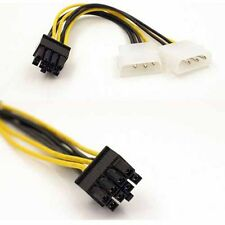 15cm IDE 4 pin molex to 8 pin PCI Express Video Card Power Cable Adapter sx