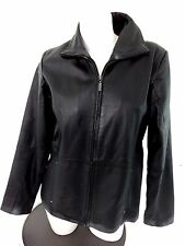 SHAVER LAKE WOMENS BLACK LEATHER JACKET SIZE M SUPER CUTE!
