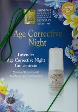 Eminence Lavender Age Corrective Night Cream 6 samples - (0.07 Oz / 2 mL) x 6
