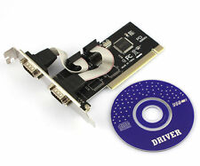 PCI to 2 Ports COM 9 Pin Serial Series RS232 Card Adapter Win 7 VISTA XP LM