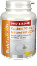 Simply Supplements Calcium 400mg & Magnesium 200mg 120 Tablets (E294)