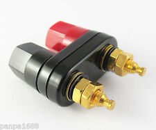 20pcs Gold Dual Binding Post Audio Speaker Amplifier Terminal 4mm Banana Jack
