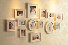 Wall Hanging Art Home Decor Decorative Sandwich Photo Frame Wooden 13P Set NEW