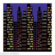 City Scape Night Backdrop Party Scene Setter Room Roll Wall Decoration Hollywood