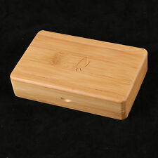 Smooth Surface Fly Fishing Box Wooden Bamboo Fly Box Storage--143*94*38 mm