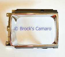 87-88 TOYOTA PICKUP 4WD / 87-89 4 RUNNER SR5 RH PASSENGER HEADLIGHT BEZEL CHROME