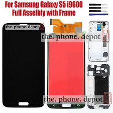 Black For Samsung Galaxy S5 i9600 G900F LCD Touch Screen Digitizer Replacement