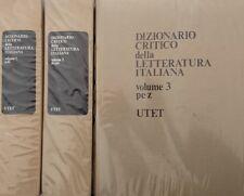 VITTORE BRANCA Dizionario critico della letteratura italiana. UTET 1973 3 VOLUMI
