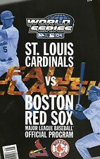 2004 World Series Program Red Sox/Cardinals
