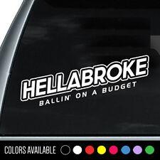 HELLABROKE racer Drift Euro JDM Vinyl Decal Sticker
