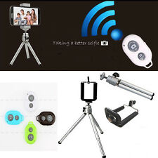 Hot Sale Bluetooth Remote Shutter + Tripod +Holder For Samsung Galaxy S6 S5 S4