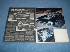"""1959 Corvette Roadster 70's Street Machine Article """"Blackout"""" ---From 1976---"""