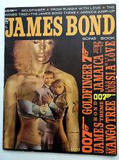 JAMES BOND Song Book GOLDFINGER Sean CONNERY 007 Photos 1964 press ACTION Spy